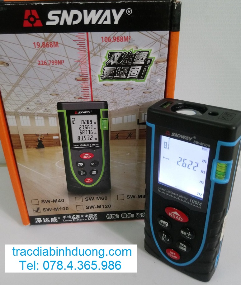 máy đo khoảng cách SNDWAY trọn bộ